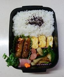 お弁当(ニンジンとインゲンの肉巻き)